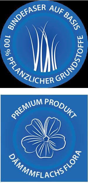 Logo Bindefaser und Logo Premiium Produkt